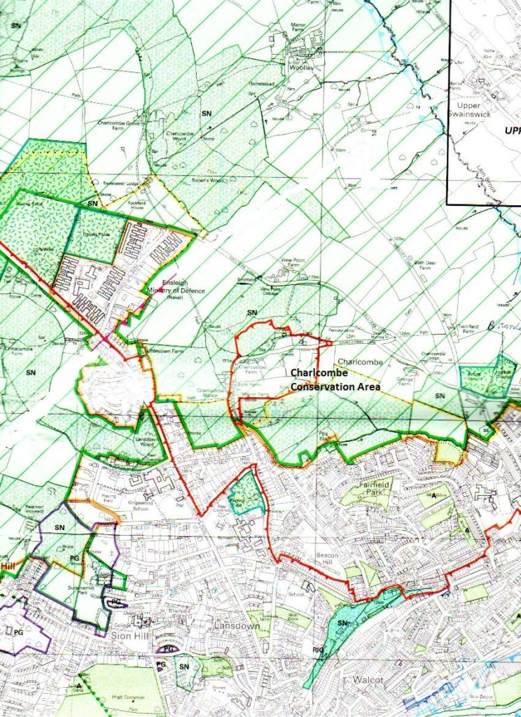 Map of Charlcombe Conservation Area