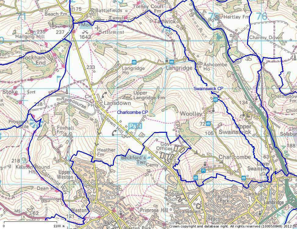 Map of Charlcombe Parish Map