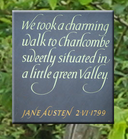 Jane Austen Quote about Charlcombe Parish