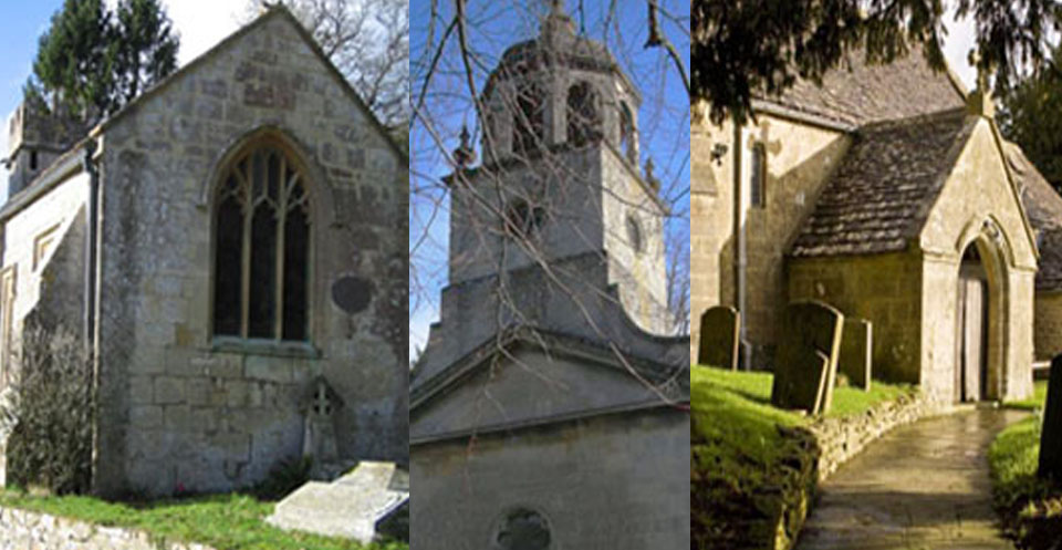 Churches in Charlcombe Parish:  St Mary the Virgin, Charlcombe   All Saints, Woolley   St Mary Magdalene, Langridge