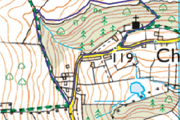 Charlcombe Short Route Map